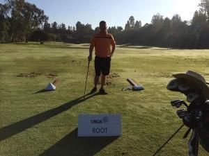 on the range at US Senior Open